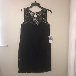 Black on black lace dress